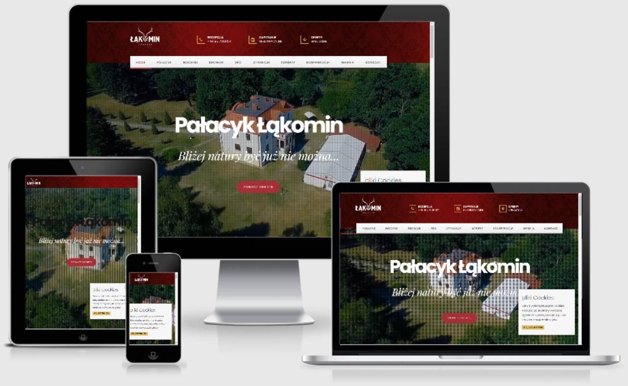 ROAN24 Pałacyk Łąkomin Responsivt websted