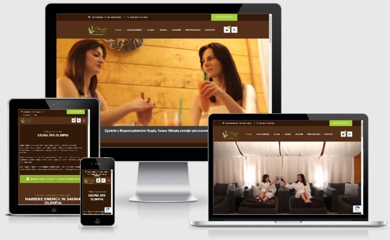 ROAN24 Sauna Olimpia Responsywność Hjemmeside